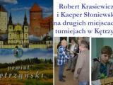 R.Krasiewicz i K.Słoniewski na podium w Kętrzynie